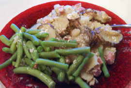 Ham Potato Casserole with Green Beans